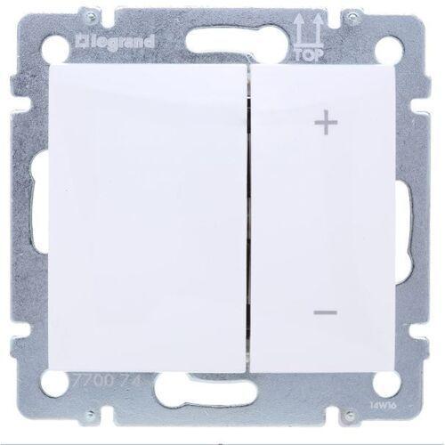 Legrand Ściemniacz przyciskowy valena 770074 40-600va 250v biały