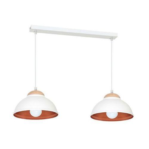 Lampa wisząca Luminex Arne 7402 lampa sufitowa 2x60W E27 biały / miedziany (5907565974027)