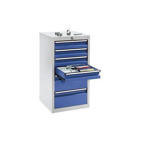 Szafka z szufladami,wys. x szer. x gł. 900 x 500 x 500 mm, 4 szuflady o wys. 100 mm, 2 szuflady o wys. 200 mm marki Stumpf-metall