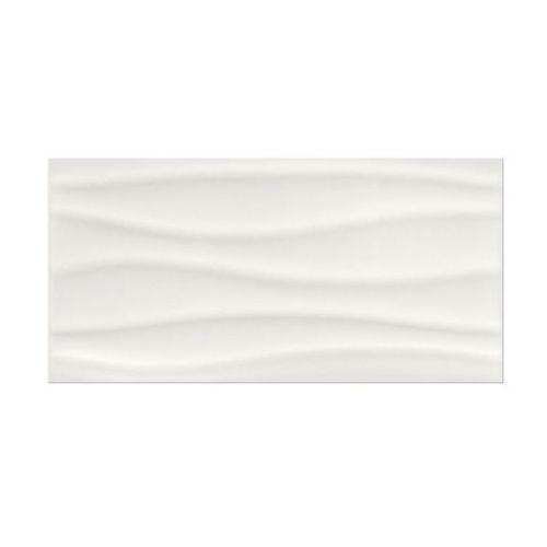 Artens Glazura blanka white wave błysk struktura 29.7 x 60 cersanit