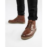 lace up boots with pebble grain in brown - brown marki Dune