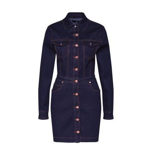 Missguided Sukienka koszulowa niebieski denim, w 6 rozmiarach