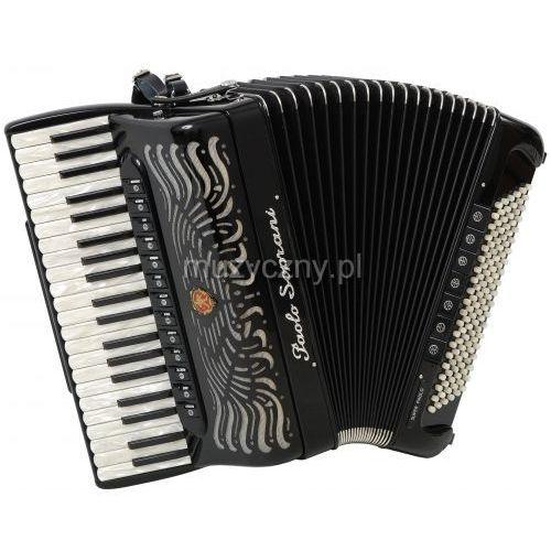 Paolo Soprani Super Paolo 41/120 Cassotto (2+2) 41/4/13+M 120/5/7 Piccolo akordeon (czarny)