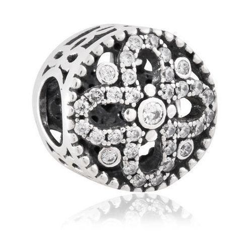 Charms koralik srebrny kwiat dla swaroga marki Murrano