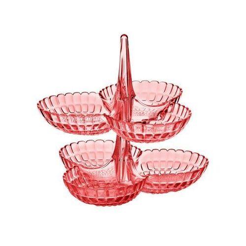 - tiffany - kpl 2 potrójnych miseczek na przystawki, różowy marki Guzzini