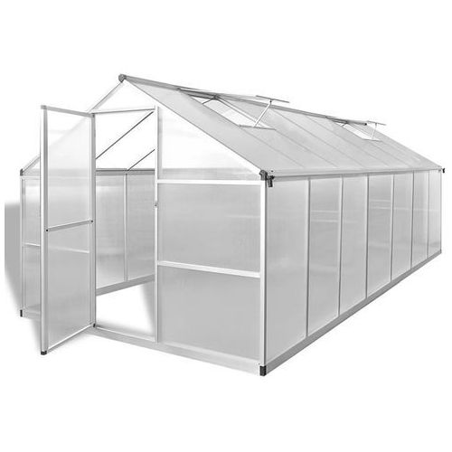 Vidaxl szklarnia, wzmocniona rama podstawy, aluminium, 10,53 m² (8718475558941)