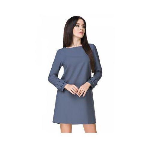 Sukienka model t196/1 dirty blue, Tessita