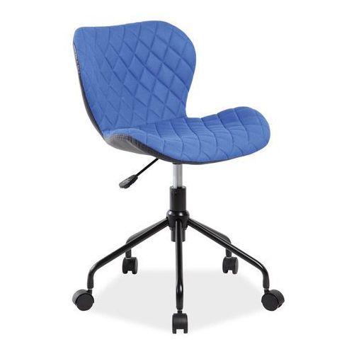 Fotel Obrotowy Rino Niebieski Czarny