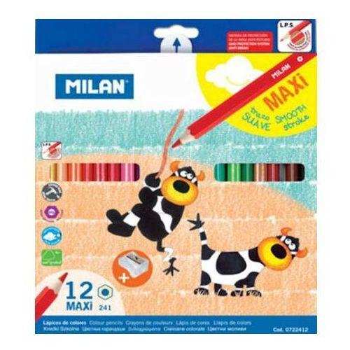 Kredki ołówkowe Kredki milan maxi sześciokątne 12kol. x1