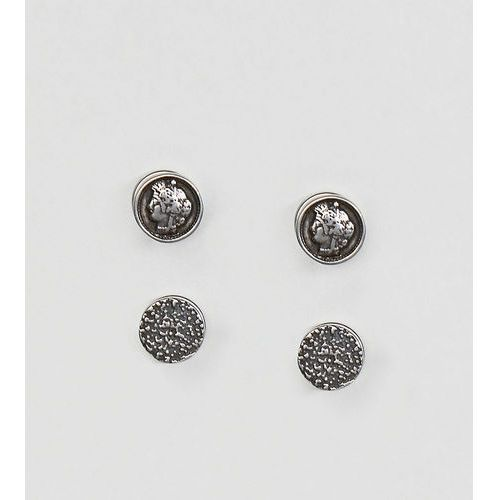 Reclaimed Vintage inspired plug earrings exclusive at ASOS - Silver