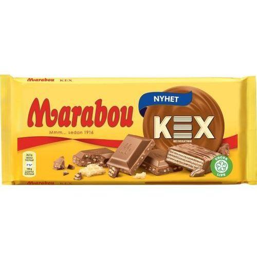 Marabou - kex - czekolada mleczna z wafelkami nugatowymi - 185g - ze szwecji