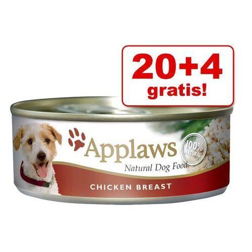 20 + 4 gratis! w bulionie, 24 x 156 g - kurczak z wątróbką wołową i warzywami| darmowa dostawa od 89 zł i super promocje od zooplus! marki Applaws