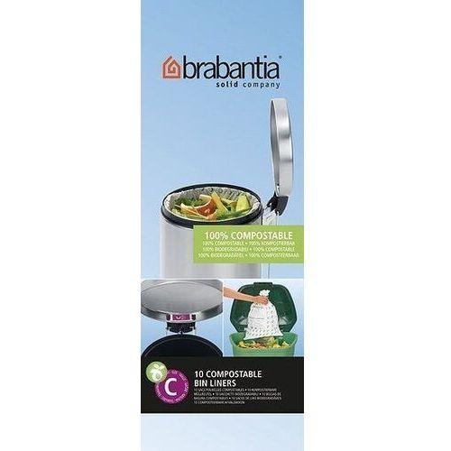 Brabantia Worki do kompostownika rozmiar c 10-12 l biodegradowalne 10 szt. (8710755419782)