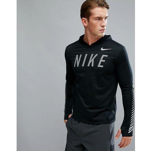 Nike running flash miler reflective hoodie in black 858077-010 - black