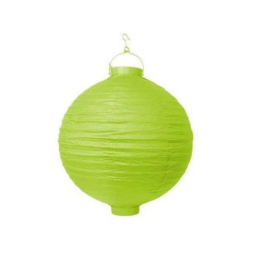 Świecący ogrodowy lampion papierowy 30 cm, zielone, 1 szt. (5902230704572)