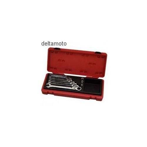 Zestaw kluczy płasko-oczkowych z mechanizmem ratel - 12 sztuk marki Seneca
