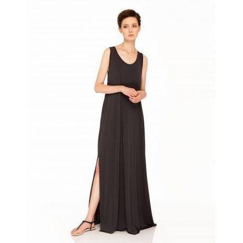 Sukienka długa z przezroczystymi plecami (Kolor: czarny, Rozmiar: Uniwersalny)
