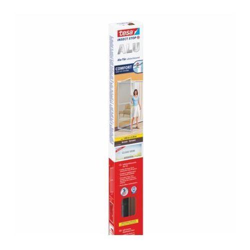 Tesa Moskitiera do drzwi comfort z ramą aluminiową, 2,2 m x 1 m, brązowa (4042448888822)