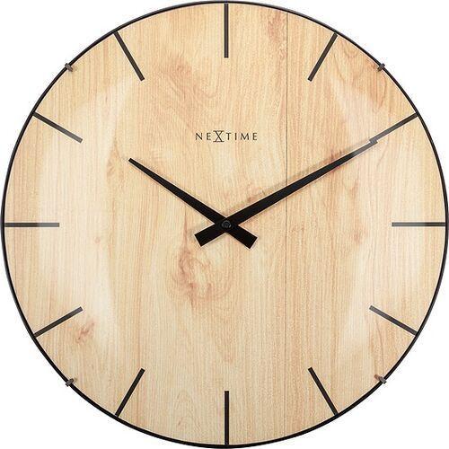 Zegar ścienny edge wood dome jasne drewno