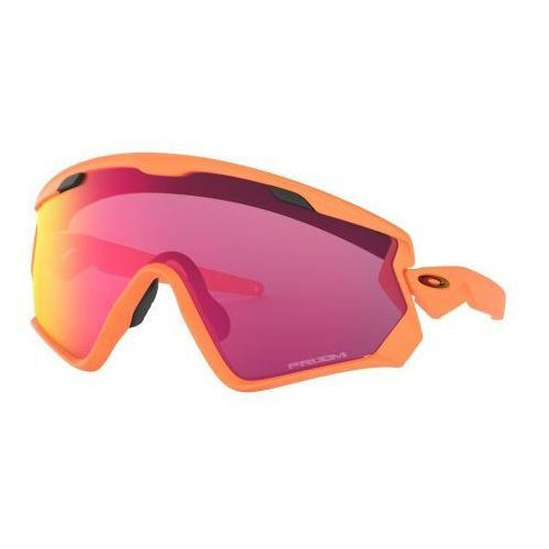 Okulary Oakley Wind Jacket 2.0 Matte Neon Orange Prizm Road OO9418-1545, kolor pomarańczowy