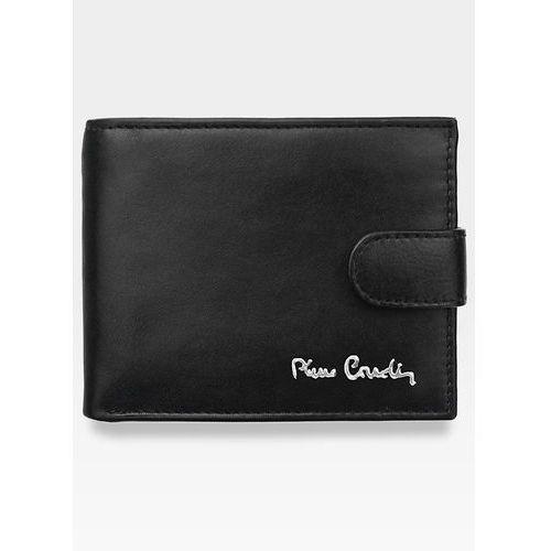 Portfel męski zapinany  skórzany klasyczny tilak06 323a pudełko - czarny marki Pierre cardin