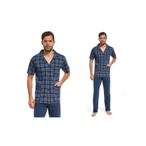 Piżama męska SVEN2: niebieski, kolor niebieski