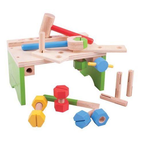 Stół stolarski - warsztat i narzędzia do zabawy dla chłopców, bigjigs marki Bigjigs toys