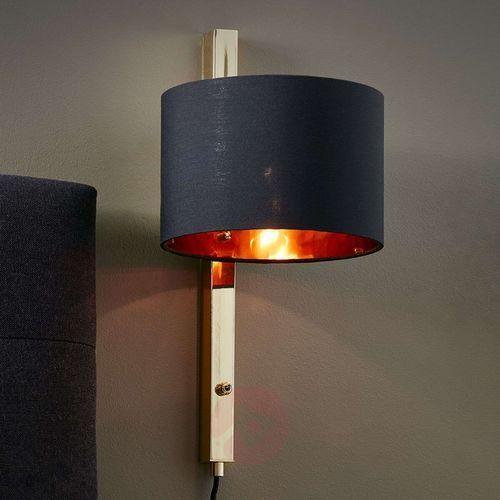 Kinkiet lampa ścienna Markslojd Pullman 1x15W E14 czarny/mosiądz 106849