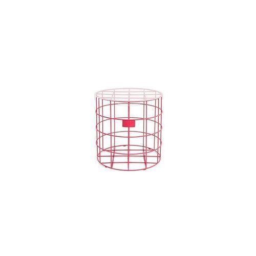 Bold monkey stolik kawowy cage fight round różowy bm23026