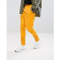 ASOS Slim Joggers In Yellow With Ruched Detail - Orange