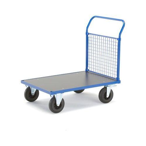 Wózek platformowy, rama końcowa z siatki, 1085x700 mm, z hamulcami, 739850