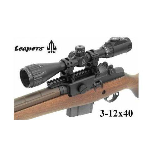 Profesjonalna Luneta Celownicza LEAPERS (USA) 3-12x40 UTG AO + Podświetlenie + Montaż Weaver 22mm.