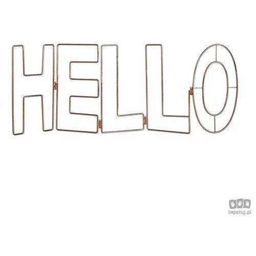Metalowa dekoracja Napis Hello 104029 Graham&Brown, 104029