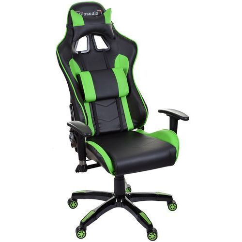 Fotel biurowy GIOSEDIO czarno-zielony,model GSA047 (5902751541717)