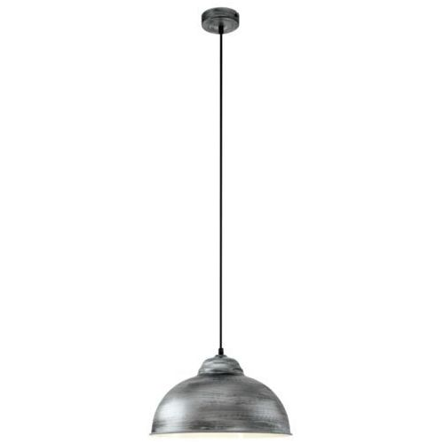 Lampa wisząca Eglo Truro 2 49389 metalowa zwis 1x60W E27 srebrna/antyczna (9002759493899)
