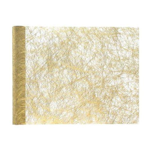 Dekoracja bieżnik metalizowany na stół - złoty - 30 cm - 1 szt. (3016600060211)
