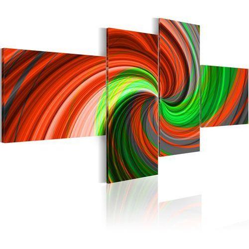 Artgeist Obraz - zielono-czerwona spirala