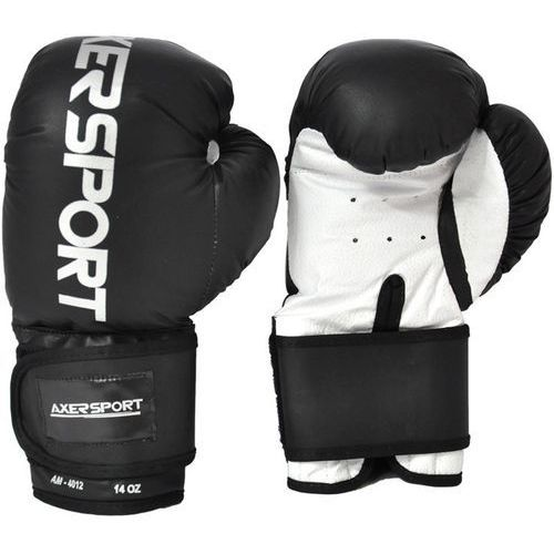 Rękawice bokserskie AXER SPORT A1343 Czarno-Biały (12 oz) + DARMOWY TRANSPORT! (5901780913434)