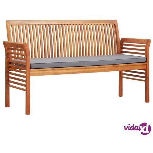 Vidaxl 3-osobowa ławka ogrodowa z poduszką, 150 cm, drewno akacjowe (8719883719191)