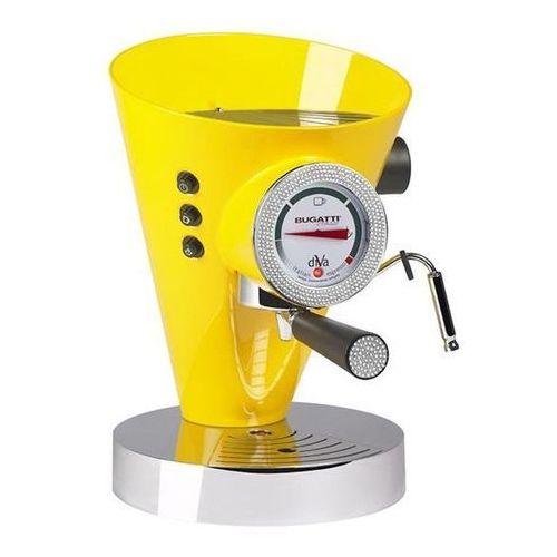 Casa bugatti - ekspres diva - 431 kryształów swarovski ® na zegarze i uchwycie - żółty