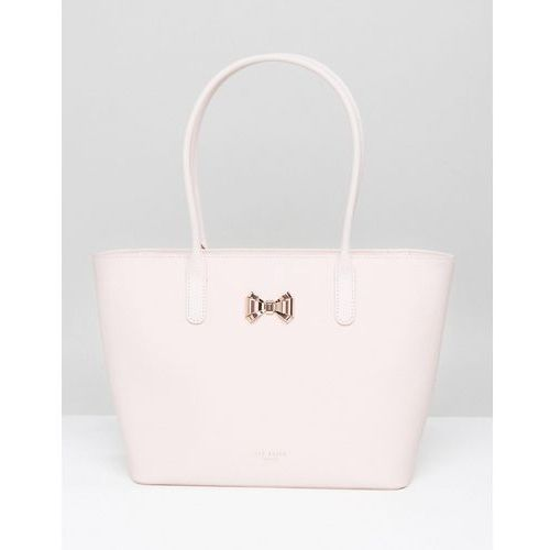 curved bow small zip shopper bag - pink od producenta Ted baker