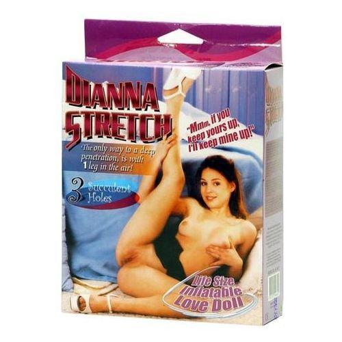 Dmuchana lalka miłości Dianna Stretch Twarz z nadrukiem Brunetka 120058