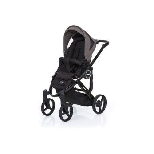 Abc design  wózek dziecięcy mamba plus black-cloud, stelaż black / siedzisko black, kategoria: wózki spacerowe