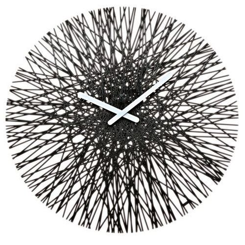 Zegar ścienny czarny Silk, KZ-2328526