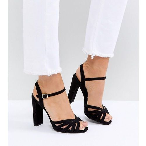New Look Wide Fit Suedette Platform Strappy Sandals - Black