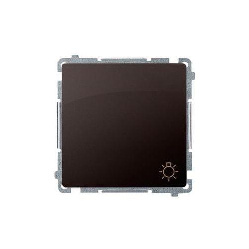Kontakt simon Simon basic przycisk światło (moduł) 16ax, 250v~, szybkozłącza; czekoladowy bms1a.01/47 wmul-080x2x-5011