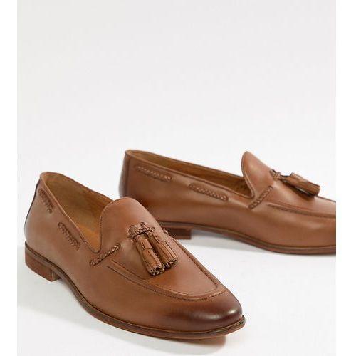 Kg kurt geiger Kg by kurt geiger wide fit rochford tassel loafers - tan