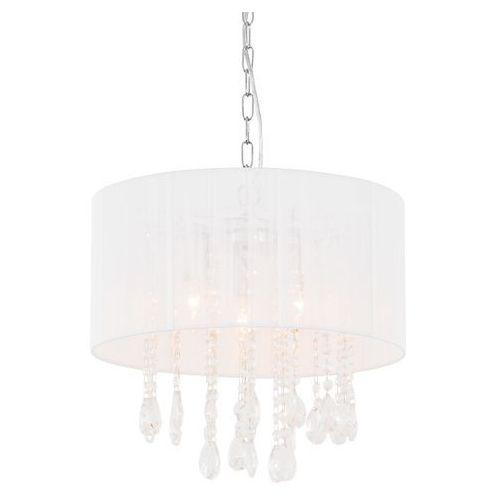Italux Żyrandol lampa wisząca essence l9262/3p abażurowa oprawa glamour kryształki crystal mgła organza biała (5900644346067)