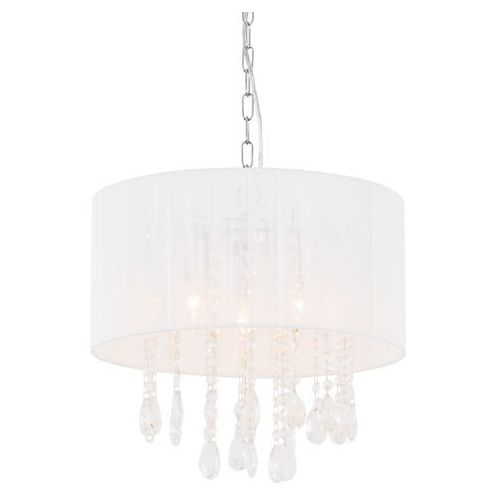 Żyrandol lampa wisząca essence l9262/3p abażurowa oprawa glamour kryształki crystal mgła organza biała marki Italux