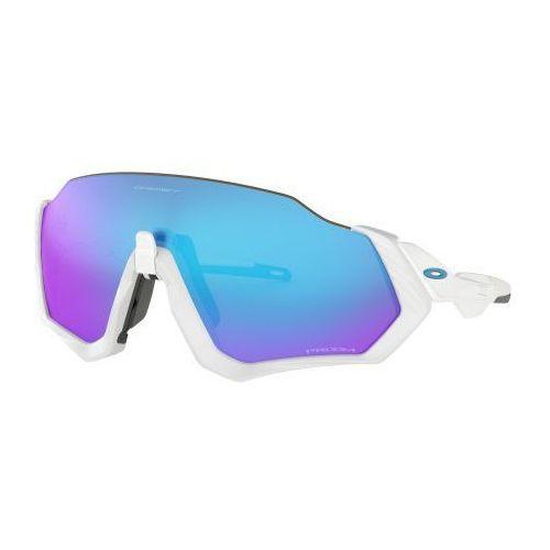 Oakley Okulary flight jacket polished white prizm sapphire iridium oo9401-0237